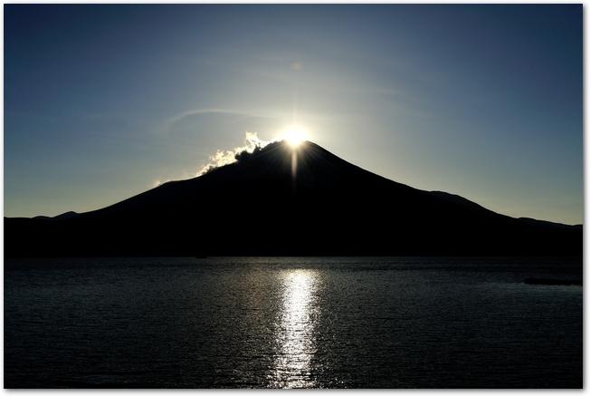 ダイヤモンド富士の風景