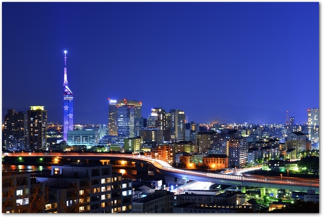 福岡県南公園からの夜景