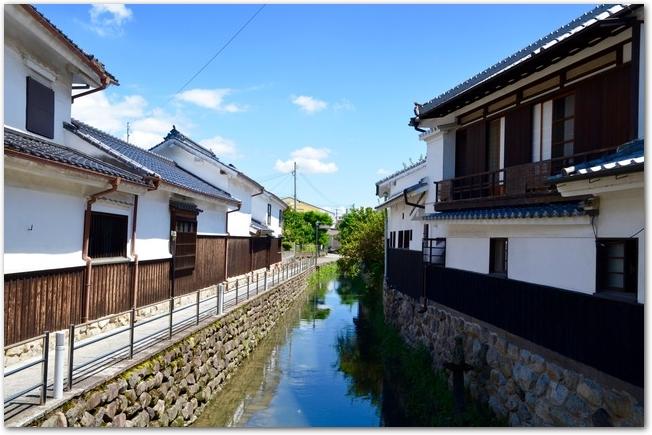 筑後吉井の白壁の街並み