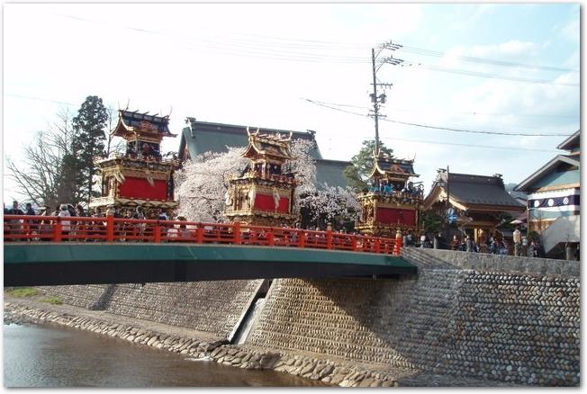 古川祭の山車の様子