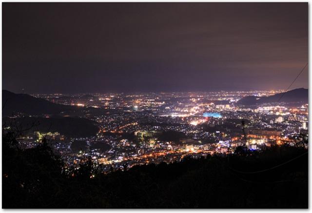 福岡県四王寺からの夜景