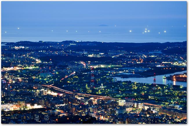 福岡県北九州市皿倉山からの夜景