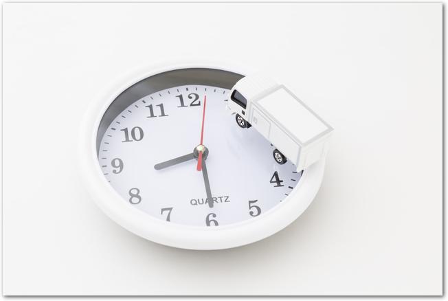 八時半を指す時計