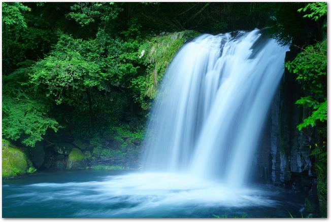 河津七滝の1つ初景滝の初夏の様子
