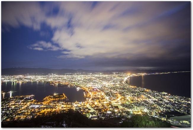 函館の夜景の眺望