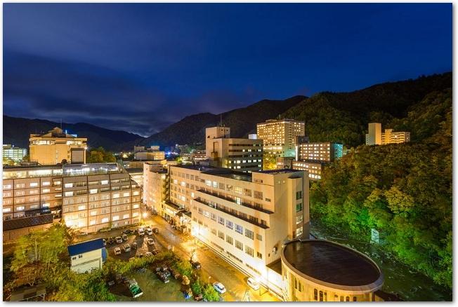 定山渓温泉の夜景