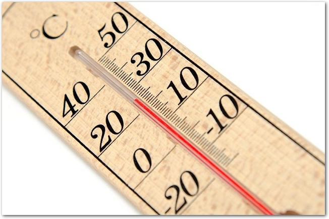 木製の温度計